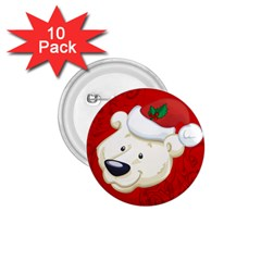 Funny Polar Bear 1 75  Buttons (10 Pack) by FantasyWorld7