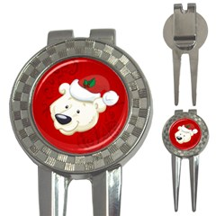 Funny Polar Bear 3 In 1 Golf Divots by FantasyWorld7