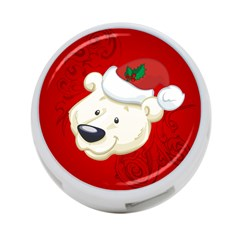 Funny Polar Bear 4 Port Usb Hub (one Side) by FantasyWorld7