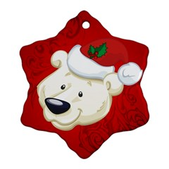 Funny Polar Bear Ornament (Snowflake)