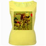 Birthday Dogs Women s Yellow Tank Top
