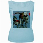 Birthday Dogs Women s Baby Blue Tank Top