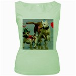 Birthday Dogs Women s Green Tank Top