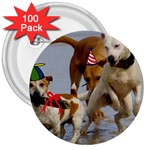 Birthday Dogs 3  Button (100 pack)