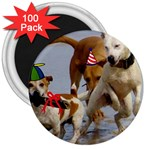Birthday Dogs 3  Magnet (100 pack)