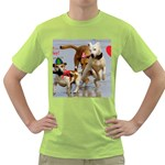Birthday Dogs Green T-Shirt