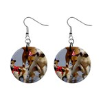 Birthday Dogs 1  Button Earrings