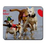 Birthday Dogs Large Mousepad