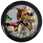 Birthday Dogs Wall Clock (Black)