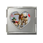 Birthday Dogs Mega Link Heart Italian Charm (18mm)