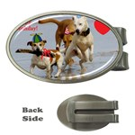 Birthday Dogs Money Clip (Oval)