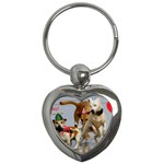 Birthday Dogs Key Chain (Heart)