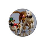 Birthday Dogs Rubber Round Coaster (4 pack)