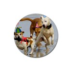 Birthday Dogs Magnet 3  (Round)