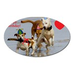 Birthday Dogs Magnet (Oval)