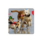 Birthday Dogs Magnet (Square)