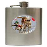 Birthday Dogs Hip Flask (6 oz)