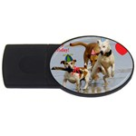 Birthday Dogs USB Flash Drive Oval (2 GB)