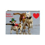 Birthday Dogs Cosmetic Bag (Large)