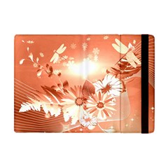 Amazing Flowers With Dragonflies Apple Ipad Mini Flip Case by FantasyWorld7