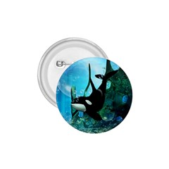 Orca Swimming In A Fantasy World 1 75  Buttons by FantasyWorld7