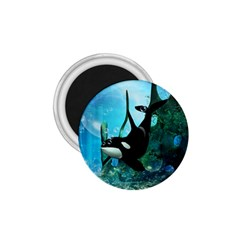 Orca Swimming In A Fantasy World 1 75  Magnets by FantasyWorld7