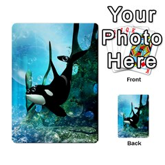 Orca Swimming In A Fantasy World Multi Purpose Cards (rectangle)  by FantasyWorld7