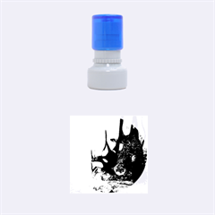 Orca Swimming In A Fantasy World Rubber Round Stamps (small) by FantasyWorld7