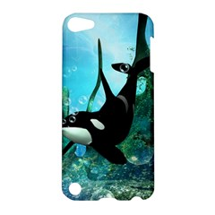 Orca Swimming In A Fantasy World Apple Ipod Touch 5 Hardshell Case by FantasyWorld7