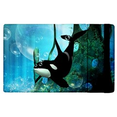 Orca Swimming In A Fantasy World Apple Ipad 3/4 Flip Case by FantasyWorld7