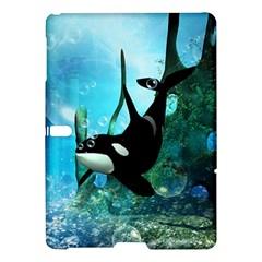 Orca Swimming In A Fantasy World Samsung Galaxy Tab S (10 5 ) Hardshell Case  by FantasyWorld7