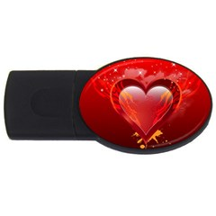 Heart Usb Flash Drive Oval (4 Gb)  by EnjoymentArt