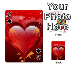 Heart Playing Cards 54 Designs