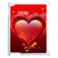 Heart Apple Ipad 2 Case (white) by EnjoymentArt