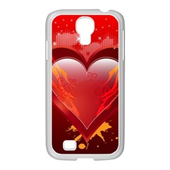 heart Samsung GALAXY S4 I9500/ I9505 Case (White) by EnjoymentArt