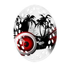 music, speaker Ornament (Oval Filigree)