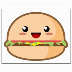 Kawaii Burger Canvas 11  X 14