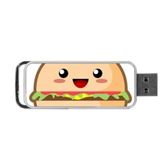 Kawaii Burger Portable Usb Flash (one Side)