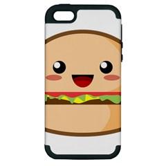 Kawaii Burger Apple Iphone 5 Hardshell Case (pc+silicone) by KawaiiKawaii