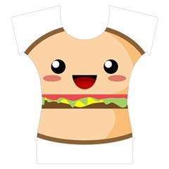 Kawaii Burger Women s Cap Sleeve Top