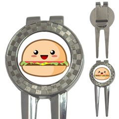 Kawaii Burger 3 In 1 Golf Divots
