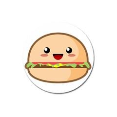 Kawaii Burger Magnet 3  (round) by KawaiiKawaii