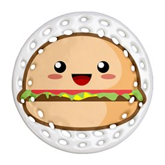 Kawaii Burger Round Filigree Ornament (2side) by KawaiiKawaii