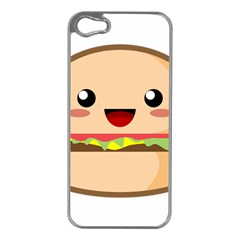 Kawaii Burger Apple Iphone 5 Case (silver)