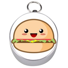 Kawaii Burger Silver Compasses by KawaiiKawaii