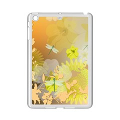 Beautiful Yellow Flowers With Dragonflies Ipad Mini 2 Enamel Coated Cases by FantasyWorld7