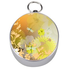 Beautiful Yellow Flowers With Dragonflies Silver Compasses by FantasyWorld7