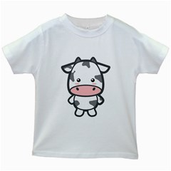 Kawaii Cow Kids White T Shirts by KawaiiKawaii