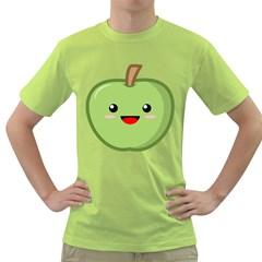 Kawaii Green Apple Green T Shirt by KawaiiKawaii