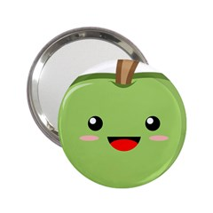 Kawaii Green Apple 2 25  Handbag Mirrors by KawaiiKawaii